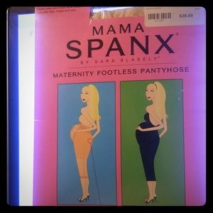 SPANX NUDE FOOTLESS MATERNITY PANTYHOSE -SIZE B